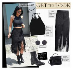 """""""Get The Look: Kylie Jenner"""" by amy-lopez-cxxi ❤ liked on Polyvore featuring H&M, Boohoo, rag & bone, FC Select Vegan Bags, GetTheLook, celebstyle and KylieJenner"""