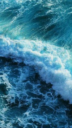 Beautiful blue waves iphone 6 plus wallpaper