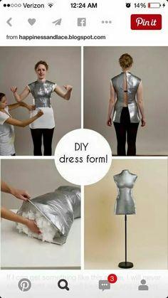 Self made dress form