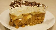 Serves: 8 Cook time: Ready in 45 minutes plus approx 5 hours' chilling Total time: Over 60 Minutes Syns per ingredients 10 reduced fat digestive biscuits, finely crushed 5 level tbsp low fat spread 2 x sachets powdered gelatine quark 3 World Recipes, Pie Recipes, Sweet Recipes, Dessert Recipes, Cooking Recipes, Banoffee Pie, Greek Sweets, Greek Desserts, Desert Recipes