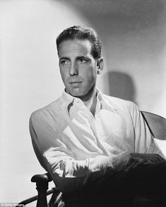 Here's looking at you: Humphrey Bogart, star of Casablanca and The Maltese Falcon, posed for Hurrell in 1940