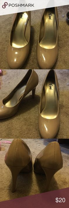 Nude color heels Gently used: taking offers FIONI Clothing Shoes Heels