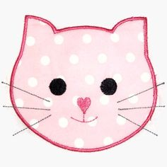 Kitty Cat Face Machine Embroidery Applique Design. $4.00, via Etsy.