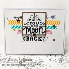 Stamping Rules!: May SOTM Blog Hop Love You To The moon Card CTMH