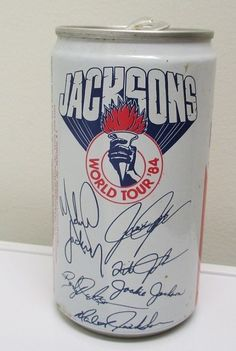 Vintage Pepsi Cola Pop Can 1984 Jacksons World Tour Concert Michael Jackson Open  Nice piece of nostalgia for sale in our Ebay store....click on the photo  #Jackson #Pepsi #vintage #world #tour #MichaelJackson