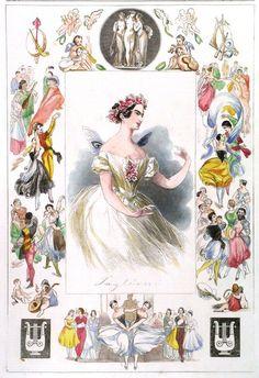 Portrait of Marie Taglioni, Italian/Swedish ballerina (1804-84)