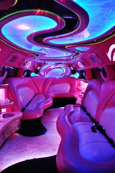 Interior of Pink Hummer Limos