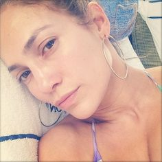 Pin for Later: Gigi Hadid and More Celebrities Embrace the Makeup-Free Selfie Jennifer Lopez