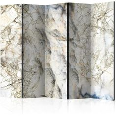 Marble Mystery Room Divider Rosdorf Park Number of Panels: 5 Wall Panel Molding, 3d Wall Panels, Panel Wall Art, Decorative Room Dividers, Folding Room Dividers, Marble Room, Marble Wall, Mystery Room, Design Japonais