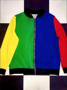 THIS OG #OMIGHTYCOLORBLOCK BOMBER JACKET FEATURES HELLA RAD PRIMARY COLORS AND ZIPPER CLOSURE ITS LIT  Poly/nylon/spandex blend Lightweight Stretchy Loose fit