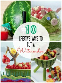 10 Creative Ways to Cut a Watermelon #watermelon #cut #creative