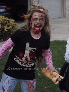 Coolest Homemade Vegetarian Zombie Halloween Costume Idea... This site is the Pinterest of costumes