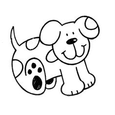 Dibujo infantil perro       Perro para imprimir