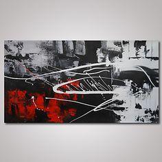 Peint à la main AbstraitModerne Un Panneau Toile Peinture à l