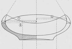Drawing for small wooden bowl, Finn Juhl.