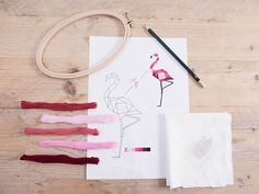 Free pdf template: geometric animals embroidery pattern click on: Vorlagen herunterladen) / Geometrische Tiere sticken: Vorbereitung und gratis pdf Vorlage