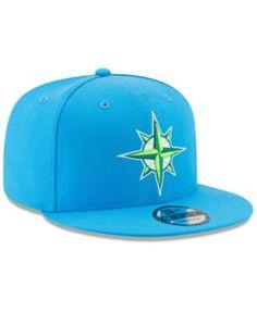 New Era Boys  Seattle Mariners Players Weekend 9FIFTY Snapback Cap - Blue  Adjustable 8d2ac926798