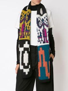 Tak.Ori intarsia knit scarf