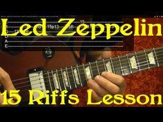 LED ZEPPELIN - 15 of their BEST RIFFS! - Easy Guitar Lesson by BobbyCrispy - YouTube
