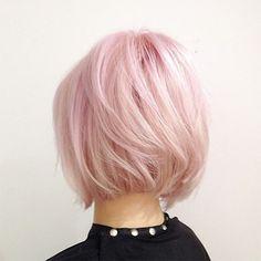 Rose Quartz hair inspiration - pink hair bob