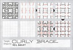zentangle patterns step by step | Curly Brace - tangle pattern | Flickr - Photo Sharing!