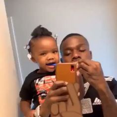 His daughter so pretty 😍😍 Cute Family, Baby Family, Family Goals, Cute Black Babies, Cute Babies, Dad Baby, Baby Kids, Funny Vid, Hilarious