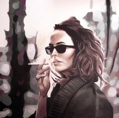 "Saatchi Online Artist: thomas saliot; Oil, Painting ""Smoking glasses"""