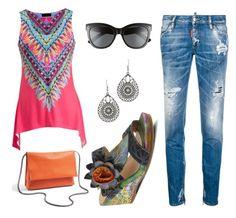 """#outfit #imagen #moda #fashion #mujer #donna #woman #beautiful #consejosdemoda #consiglidimoda #belleza #lookoftheday #curvygirl #curvywomen #jeans #denim #lookxl #lookxlovers #casualwear #lookcasual"" by eva-falcon-velazco on Polyvore featuring moda, Topshop, L'Artiste by Spring Step, Dsquared2, Fashionomics e Polaroid"