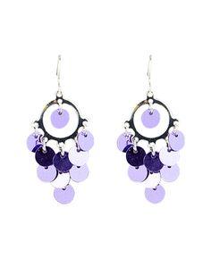 Purple Sequin Earrings | Earrings | Jewelry | Shop Justice
