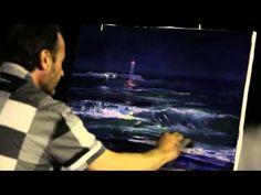 ▶ Как нарисовать море за <i>нарисовать горы акрилом</i> 30 минут. Пленэр в Ялте. Игорь Сахаров. Холст/масло/мастихин
