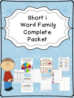 FREE- This is a SAMPLE of a set I have in my store. The set that is posted in my store has thirteen different types of short e activities for your students. The following word families are included:  -in, -ig, -it, -id, and -ip. The cost of the complete set is $4.00, and it has 87 pages.