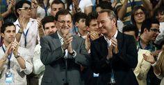 Alberto Fabra junto a Mariano Rajoy en la Convención Regional del PPCV en Peñíscola.