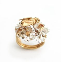 Alex Monroe, Honey Bee And Flower Ring