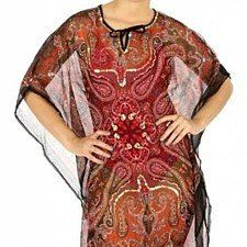 Buy Chiffon Tunic in Feather Print by myfashionshop on OpenSky