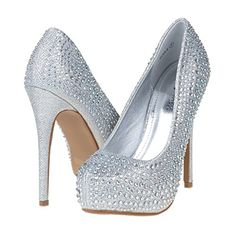DREAM PAIRS ELSA-S Women's Rhinestone Glitter Closed Toe Stiletto Heel Platform Pumps Shoes