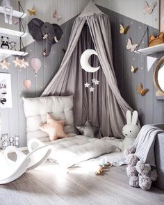 Girl room - 10 Ways to Design a Modern Baby Nursery Baby Bedroom, Baby Room Decor, Nursery Room, Girls Bedroom, Bedroom Decor, Nursery Ideas, Wall Decor, Bedroom Lighting, Girl Nursery