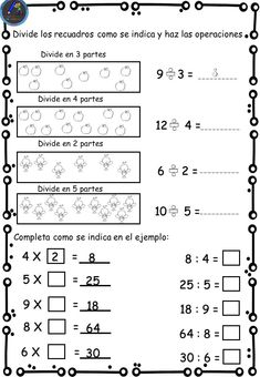 Math Division Worksheets, 3rd Grade Math Worksheets, Activities For Girls, Math Activities, Summer School, Math Lessons, Homeschool, Teaching, How To Plan