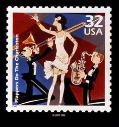 "US Stamp 1998 - Celebrate the Century 1920s ""Flappers Do the Charleston"" commemorative"