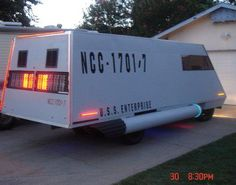 That is apparently a shuttlecraft camper. Yes. I see a Father's Day idea...