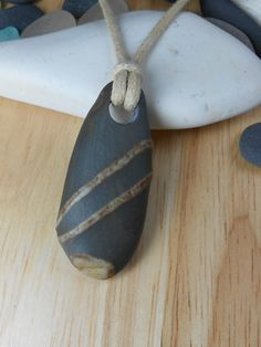 Beach Stone Jewelry - Simple Stone Necklace - RAD.