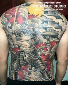 Japanese Back Tattoo, Japanese Tattoos For Men, Japanese Dragon Tattoos, Traditional Japanese Tattoos, Japanese Tattoo Designs, Samurai Back Tattoo, Samurai Warrior Tattoo, Back Piece Tattoo, Chest Piece Tattoos