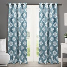 Exclusive Home 2-pack Medallion Blackout Thermal Curtains - 52'' x 84'', B