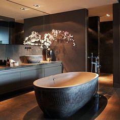 nice 10 black luxury bathroom design ideas by - Home Decor Dark Bathrooms, Dream Bathrooms, Beautiful Bathrooms, Luxury Bathrooms, Spa Bathrooms, Contemporary Bathrooms, Interior Design Minimalist, Luxury Interior Design, Modern Design