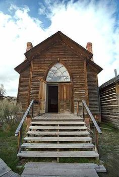 Abandoned building (church c. 1870) in Bannack, Montana, known as The Ghost Town