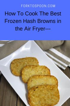 How To Cook The Best Frozen Hash Browns in the Air Fryer— You are in the right place about air frying frozen foods Here we offer you the most beautiful pictures about the air frying dinner you are loo Air Fryer Recipes Snacks, Air Frier Recipes, Air Fryer Dinner Recipes, Hash Brown Patties, Frozen Hashbrowns, Air Fryer Review, Best Air Fryers, Air Frying, Comfort Food