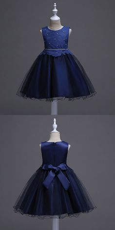 Only $37.9, Cheap Flower Girl Dresses Princess A-line Navy Blue Cheap Flower Girl Dress With Lace Bodice #QX-9999 at #GemGrace. View more special Flower Girl Dresses,Cheap Flower Girl Dresses now? GemGrace is a solution for those who want to buy delicate gowns with affordable prices, a solution for those who have unique ideas about their gowns. 2018 new arrivals, shop now!