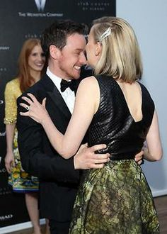 Actors James McAvoy, Jess Weixler, Jessica Chastain and director Ned Benson attend 'The Disappearance Of Eleanor Rigby' 67th Cannes Film Festival pre-screening reception hosted by The Weinstein Company, Myriad Pictures & Chopard at Albane by Costes, JW Marriott Rooftop on May 17, 2014 in Cannes, France
