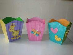 Papeleras Popcorn Cups, Wooden Shapes, Kids Furniture, Vintage Wood, Decoupage, Baby Shower, Pencil Holders, Samara, Room