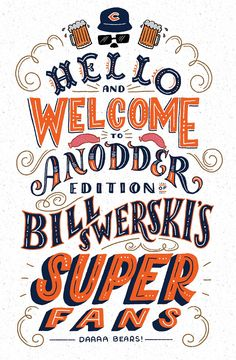 Daaa Bears may not be in the Super Bowl, but ShaunaPanczyszyn's tribute is still super! Maybe anodder year. [Shauna's Twitter / Instagram / Dribbble ]