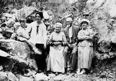 Samuel and Christina Ertel Bartholomew and family enjoying a gathering at Fish Ranch, California, in the San Gabriel mountains about 1918. Photo contributed by member Virginia Turner.